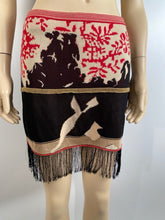 Load image into Gallery viewer, Rare Vintage Chanel 03A, 2003 Fall Fringe Tassels Floral Skirt FR 38