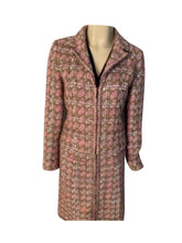 Load image into Gallery viewer, Chanel Vintage 03P Spring Pink Brown Tweed Cotton jacket blazer skirt suit set FR 38 US 4