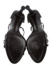 Load image into Gallery viewer, Chanel Black Stone CC logo Gripoix Sandal Heels EU 39.5 US