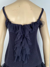 Load image into Gallery viewer, Vintage Chanel 02C 2002 Cruise Resort Navy Blue Wool Dress FR 38 US 4/6