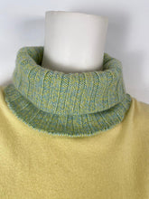 Load image into Gallery viewer, NWT Chanel 01A 2001 Fall green yellow turtleneck sweater blouse FR 40 US 4