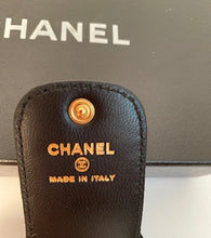 Load image into Gallery viewer, New in Box Chanel 07A Black Leather Luggage Tag