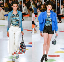 Load image into Gallery viewer, NWT Chanel 16C, 2016 Cruise Resort Paris Seoul Multicolor Lace Top FR 36