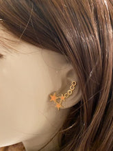 Load image into Gallery viewer, Chanel 01P, 2001 Spring Comte Coco shooting Stars Pierced Earrings