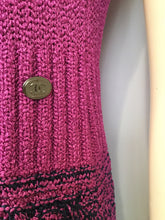 Load image into Gallery viewer, Chanel knit Pink raspberry navy blue gray  Dress FR 42 US 6/8