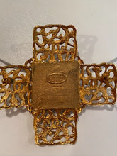 Load image into Gallery viewer, 1980's Collection 25 Vintage Chanel Gold Cross Brooch Pin