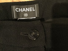 Load image into Gallery viewer, Chanel Black Wide Leg Wool Cashmere Pants Trouser US 8