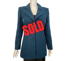 Load image into Gallery viewer, 97A, 1997 Fall Chanel Vintage emerald green Boucle wool blazer long jacket FR 40 US 6/8