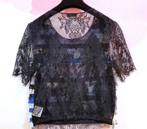 NWT Chanel 16C, 2016 Cruise Resort Paris Seoul Multicolor Lace Top FR 36
