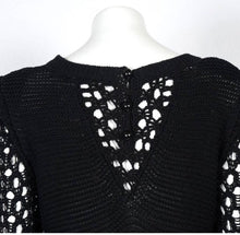 Load image into Gallery viewer, NWT Chanel 14S Black Maxi Crochet Dress FR 38