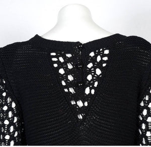 NWT Chanel 14S Black Maxi Crochet Dress FR 38