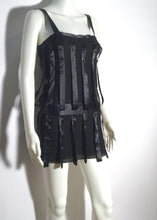 Load image into Gallery viewer, Preowned Chanel 03A Fall Snap Collection Black Mini Dress Top Tunic Vintage FR 38 US 2/4