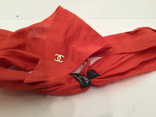Load image into Gallery viewer, Chanel 08C Orange Cotton Scarf Neckerchief Headband headscarf Bandana