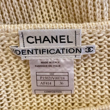 Load image into Gallery viewer, Vintage 00C Chanel Identification beige 2 piece sweater twinset FR 36 US 4
