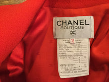 Load image into Gallery viewer, Chanel Vintage 94A Fall Orange/Red Wool Dress Coat Blazer Jacket FR 36 US 4