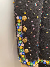 Load image into Gallery viewer, Chanel 1980's Collection 23 Black Multicolor Confetti Jacket Skirt Suit Set US 8/10