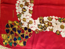 Load image into Gallery viewer, Vintage Chanel Jewel Gripoix Pearls Silk Scarf Handkerchief