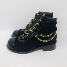 Load image into Gallery viewer, CHANEL 15A Paris Salzburg Charm chains Ankle Boots EU 39.5