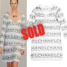 Load image into Gallery viewer, Vintage Chanel 05P, 2005 Spring Cotton Tunic Swim Cover Up Logo Dress FR 38 US 4/6
