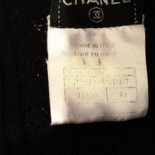 Load image into Gallery viewer, Chanel 03P Spring Black Cotton knit Blouse top FR 40 US 6
