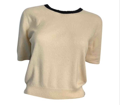 Chanel Winter White Sweater Top Blouse US 6