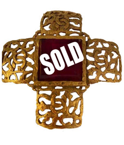 1980's Collection 25 Vintage Chanel Gold Cross Brooch Pin