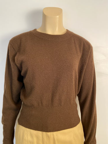 Chanel Vintage Cashmere Dark Brown Sweater US 12/14/16