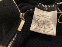 Load image into Gallery viewer, Chanel 08C Coco Line Black Sleeveless Ribbed Blouson Dress FR 38 US 6