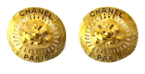 1994 94A Rare Chanel vintage gold  oversized large clip on earrings