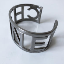 Load image into Gallery viewer, Chanel Vintage Cuff Letter Bracelet Bangle