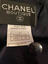 Load image into Gallery viewer, Vintage Chanel 98A, 1998 Fall Double Breasted Dark Navy Blue Jacket FR 38 US 4