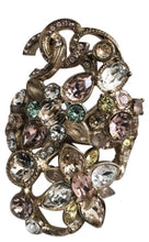 Load image into Gallery viewer, Chanel 16C Rare 'Fairy Bouquet' crystal CC Ring Size 5 1/4