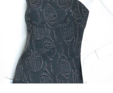 Load image into Gallery viewer, Chanel 09P Spring Navy blue Tube Tennis Theme Dress FR 38 US 4