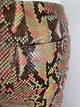 Load image into Gallery viewer, Chanel 00T, 2000 Transition Collection Multicolor Python Snakeskin Pants Trousers FR 38 US 4/6