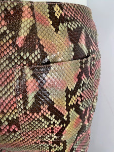 Chanel 00T, 2000 Transition Collection Multicolor Python Snakeskin Pants Trousers FR 38 US 4/6