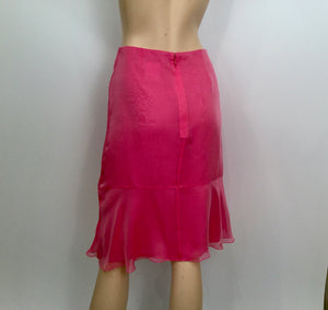 Chanel Vintage 01C Cruise Resort Silk Pink Skirt FR 38 US 4