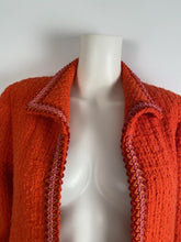 Load image into Gallery viewer, Extremely Rare! Vintage Chanel 94P, 1994 Spring Orange Tweed Scobido Trim Boucle  Jacket FR 36 US 4