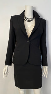 Vintage Chanel 98P, 1998 Fall Black Skirt Suit FR 38
