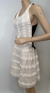 Chanel 2015 Spring Summer Delicate White and Black Dress FR 38 US 4/6