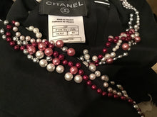 Load image into Gallery viewer, Chanel 02C Cruise open back sleeveless Top Blouse Embellished with yards of pearls in various colors.FR 40 US 4/6