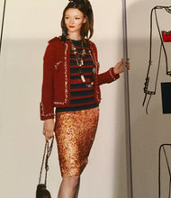 Load image into Gallery viewer, Chanel Vintage 06C Cruise Resort Gold Sequence Sequin Mini skirt FR 42 US 6/8