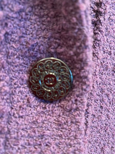 Chanel vintage 97A, 1997 Fall Boucle grape Color Blazer Jacket FR 42