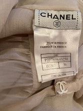 Load image into Gallery viewer, Chanel 04C Silk Chiffon Short Sleeve Sheer Drawstring Beige Ecru Blouse Top FR 36 US 2/4