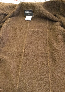Chanel Brown Long Fall 2012 RTW Leather Shearling Coat Jacket FR 40 US 6