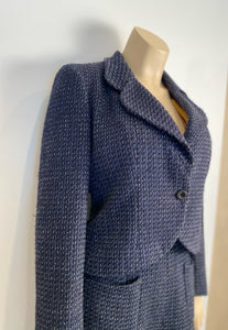Chanel 02C 2002 Cruise Blue Skirt Suit FR 42 US 8