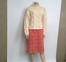 Load image into Gallery viewer, Vintage 97P Chanel Boutique Orange Tweed Plaid Wool Skirt US 10