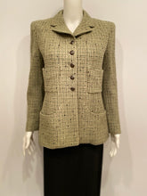 Load image into Gallery viewer, Vintage Chanel 97A, 1997 Fall Green Tweed Jacket FR 42 US 6/8