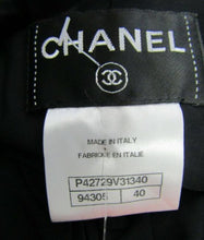 Load image into Gallery viewer, NWT New with Tags Black Chanel Fitted Contour Zip Up Mini Dress FR 40 US 4/6