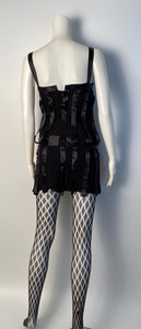 Vintage Chanel 03A, 2003 Fall Snap Collection Black Mini Dress Top Tunic FR 38 US 2/4