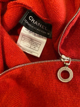 Load image into Gallery viewer, Chanel Identification 00A Fall Autumn Rust turtleneck Cashmere Sweater Top FR 40 US 4